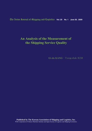 An Analysis of the Measurement of the Shipping Service ... - Ajsl.info