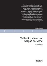 Verification of a nuclear weapon-free world - VERTIC