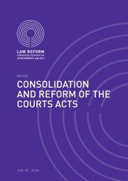 Report on Consolidation and Reform of the Courts Acts (LRC 97-2010)