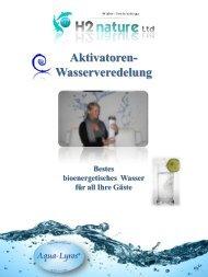 Aktivatoren- Wasserveredelung