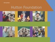2004 Annual Report - Hutton Foundation