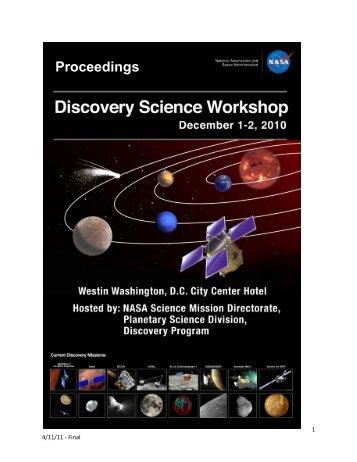 Proceedings - Discovery Program - NASA