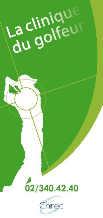 Brochure over de golfspelerkliniek - Chirec