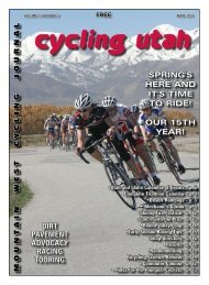 April 2007 Issue - Cycling Utah
