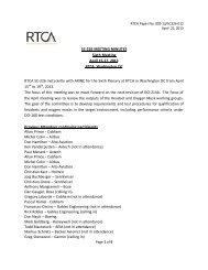 SC-226 MEETING MINUTES Sixth Meeting April 15-17, 2013 RTCA ...