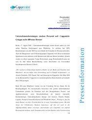 Capgemini-Gruppe sucht 400 neue Berater