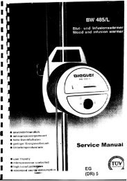 Biegler BW-485 #1 Blood Warmer Service Manual - internetMED