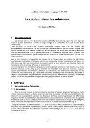 La Couleur des Minéraux - Page perso minéraux Alain ABREAL ...