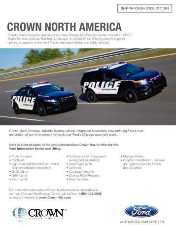 ship-through code - Crown North America