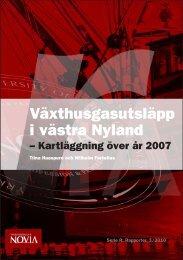 Växthusgasutsläpp i västra Nyland – Kartläggning över år ... - Theseus