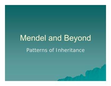 Mendel and Beyond