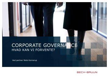 Corporate Governance - Hvad kan vi forvente - Bech-Bruun