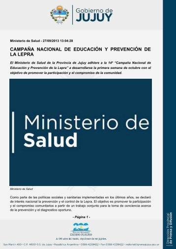 campaña nacional de educación y prevención de la lepra