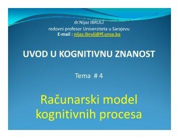 Računarski model kognitivnih procesa