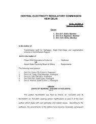 CENTRAL ELECTRICITY REGULATORY COMMISSION NEW DELHI