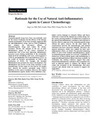 Rationale for the Use of Natural Anti-Inflammatory Agents in Cancer ...
