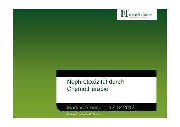 Nephrotoxizität durch Chemotherapie - Tumorzentrum Berlin-Buch