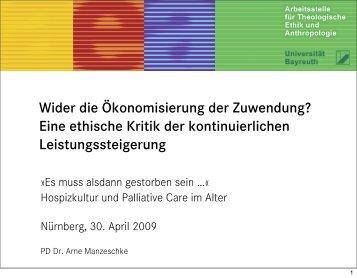 Eine ethische Kritik der kontinuierlichen ... - End-Of-Life-Care