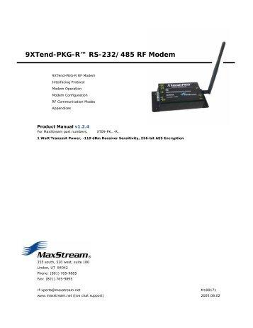 9XTend-PKG-R™ RS-232/485 RF Modem
