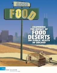 FOOD DESERTS - Rudd Center for Food Policy & Obesity