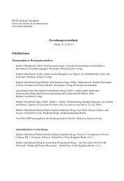 Vollständige Liste der Publikationen & Vorträge - SLM - Universität ...