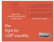 the fight for LGBT equality. - American Civil Liberties Union of ...