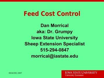 Feed Cost Control - Iowa State University