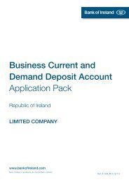 Business Current and Demand Deposit Account ... - Bank of Ireland