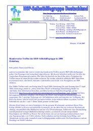 Jahrestreffen 2008 - HSP-Selbsthilfegruppe Deutschland EV