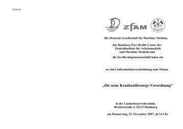 """""""Die neue Krankenfürsorge-Verordnung"""" - port-health.org"""