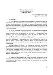 Discurso del Dr. Luis Antonio Sobrado González, Presidente del ...