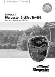 Klargester BioDisc® BA-BG