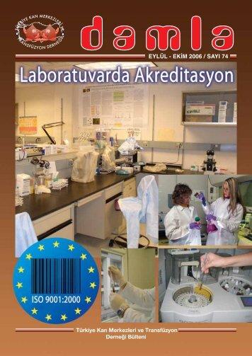 eylül - ekim 2006 / sayı 74 - Kan Merkezleri ve Transfüzyon Derneği