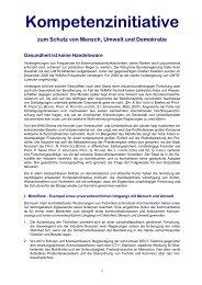 Kompetenzinitiative zum Schutz von Mensch, Umwelt und Demokratie