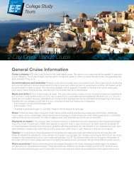 2-Day Greek Islands Cruise - EF College Study Tours