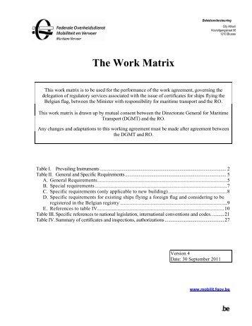 The Work Matrix