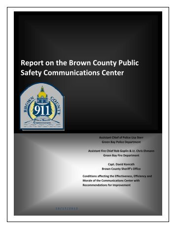 Report on the Brown Coun Safety Communications Ce ... - Fox 11