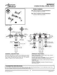 Spec Sheet - American Standard ProSite
