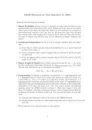 EE639 Homework #1 (Due September 21, 2009)