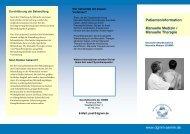 Patienteninformation Manuelle Medizin / Manuelle Therapie www ...