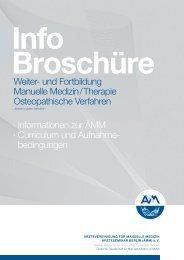 Info Broschüre - Ärzteseminar Berlin (ÄMM)