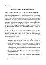 Perspektiven der Lehrer/-innenbildung - Zentrum für Lehrerbildung ...