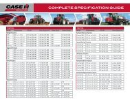 COMPLETE SPECIFICATION GUIDE - Case IH