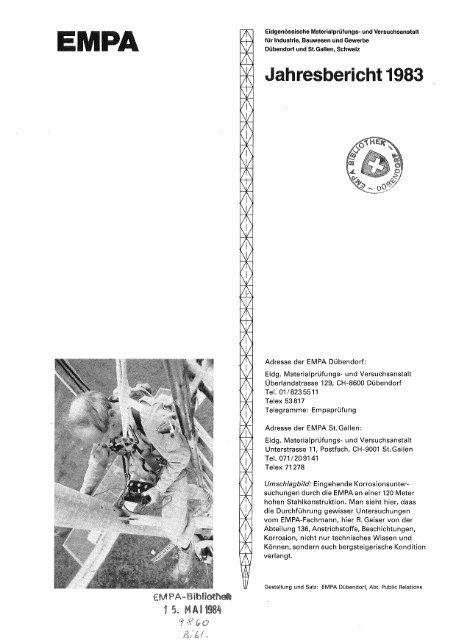 Jahresbericht 1983 - Eawag-Empa Library