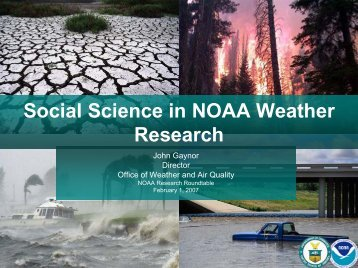 Social Science in NOAA Weather Research