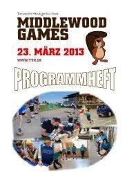 Programmheft Middlewood Games - TV Herzogenbuchsee