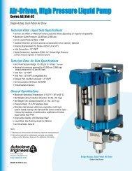 Air- Driven, High Pressure Liquid Pump - Series ASL150-02