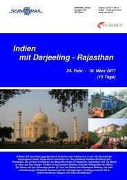 Indien mit Darjeeling - Rajasthan - SERVRail