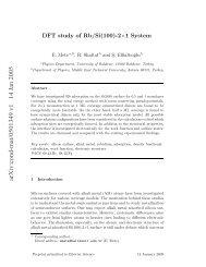 arXiv:cond-mat/0501349 v1 14 Jan 2005 - Department of Physics