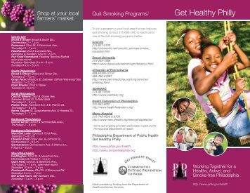 Get Healthy Philly - SmokeFree Philly